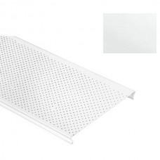 Потолок реечный Cesal S-100 Стандарт С01 жемчужно-белый с перфорацией 4 м