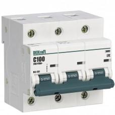 Автоматический выключатель DEKraft ВА-201 3п C 100А 10кА