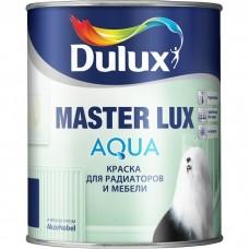 Эмаль акриловая Dulux Master Lux Aqua 40 для радиаторов и мебели база BW полуглянцевая 1л