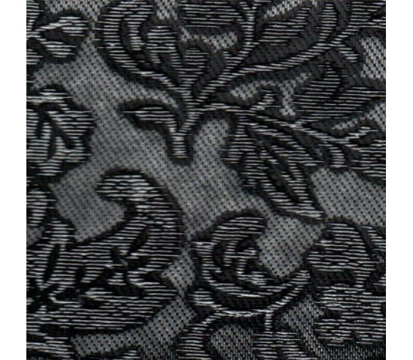 Декоративная панель МДФ Deco Цветы черный и серебро 114 2800х640 мм