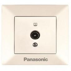 Розетка телевизионная концевая Panasonic Arkedia WMTC04512BG-RES одноместная кремовая