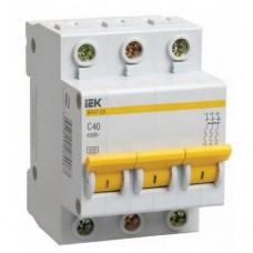 Автоматический выключатель IEK ВА47-29 3Р 40А C