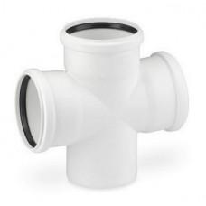 Крестовина канализационная RAU-PP Rehau Raupiano Plus 110х110х110 мм 87 градусов