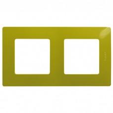 Рамка двухместная Legrand Etika 672542 зеленый папоротник