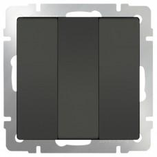 Механизм выключателя Werkel WL07-SW-3G трехклавишный серо-коричневый