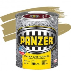 Краска для металла Panzer гладкая золотистая 0,75 л