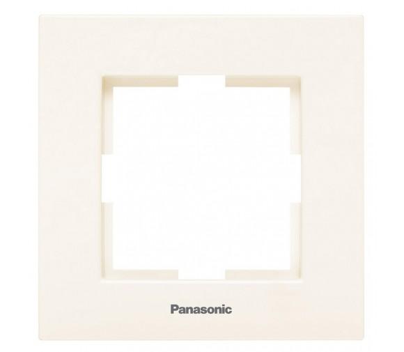 Рамка одноместная Panasonic Karre Plus WKTF08012BG-RES кремовый