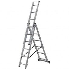 Лестница трехсекционная алюминиевая Krause Corda 010361 3х6