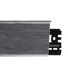 Плинтус ПВХ Arbiton Indo 17 Алюминий 2500х70х26 мм