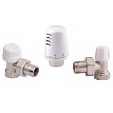 Термостатический комплект угловой ICMA KTE 1100 +774-940 +805-940 3/4 дюйма