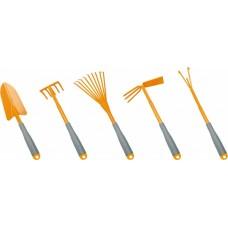 Набор:совок;грабли 5-зуб. и веерн;мотыж комб;рыхл.