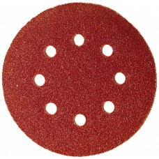 Круг абразивный для липучки ПЕРФО 8 отверстий Р24 125 мм