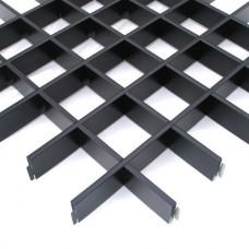 Потолок грильято Cesal Классический Стандарт черный 200х200х40 мм