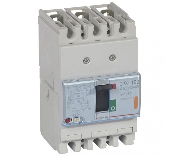 Автоматический выключатель Legrand DPX3 160 420046 3P 125A 25 кА