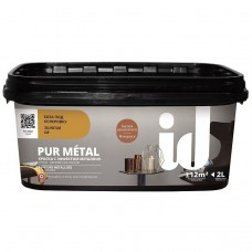 Краска декоративная ID Pur Metal золотая база под металл 2 л