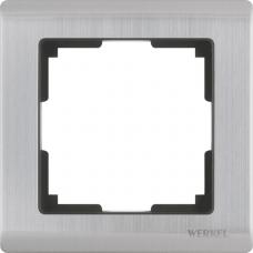 Рамка одноместная Werkel Metallic WL02-Frame-01 глянцевый никель