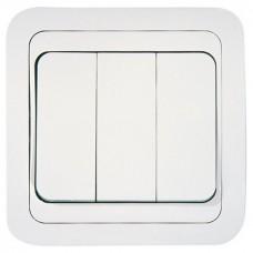 Выключатель Макеl Mimoza 12091 трехклавишный белый