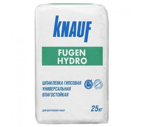 Шпатлевка гипсовая влагостойкая Knauf Фуген Гидро 25 кг