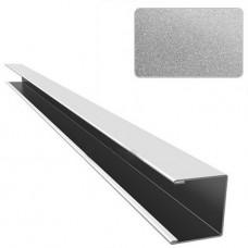 П-профиль алюминиевый Cesal C02 металлик серебристый