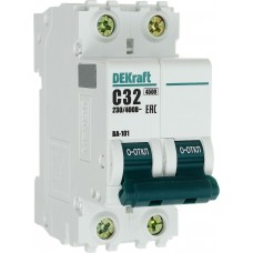 Автоматический выключатель DEKraft ВА-101 2п C 32А 4.5кА
