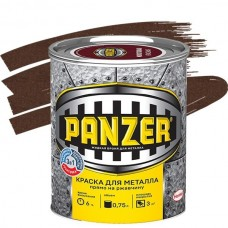 Краска для металла Panzer молотковая коричневая 0,75 л
