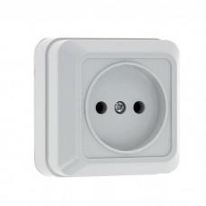 Розетка EKF Рим ENR10-022-10 одноместная белая