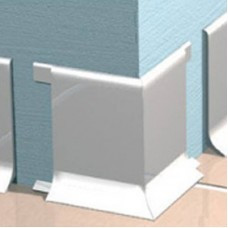 Угол наружный для алюминиевого плинтуса Progress Plast REBAA 60