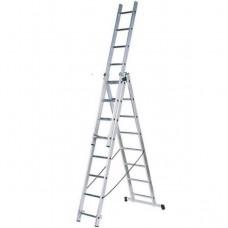 Лестница Курс 65442 трехсекционная алюминиевая 3х7 ступеней