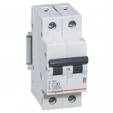Автоматический выключатель Legrand RX3 419698 2P C 20A 4,5 кА