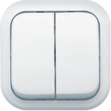 Выключатель Кунцево-Электро Валентина А56-025 двухклавишный белый