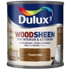 Лак-морилка на водной основе Dulux Woodsheen по дереву полуматовый французский дуб 0,25 л