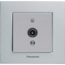 Розетка телевизионная проходная Panasonic Karre Plus WKTT04522SL-RES 12dB одноместная серебро