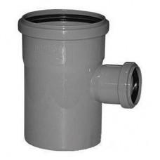Тройник канализационный ПП Ду 110х50х110 мм 90 градусов с кольцом серый