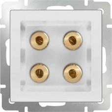 Механизм акустической розетки Werkel WL01-AUDIOx4 белый