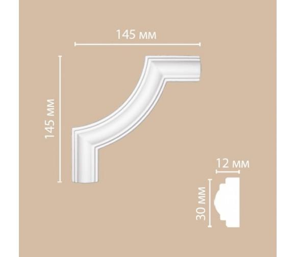 Угол декоративный для молдинга Decomaster DP-8032B 145х145х12 мм