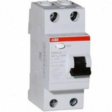 Выключатель автоматический дифференциального тока УЗО ABB FH202 2CSF202004R1630 2п 63A 30mA тип AC
