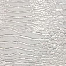 Декоративная панель МДФ Deco Крокодил белый и блестки серебро 122 2800х390 мм