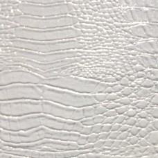 Deco Крокодил белый и блестки серебро 122 2800х390 мм