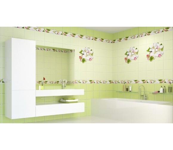 Стеновая панель ПВХ Кронапласт Unique Яблоневый цвет зелёный 2700х250 мм