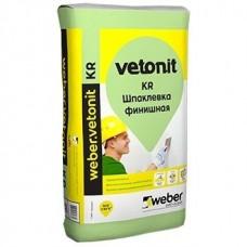 Шпатлевка на органическом связующем Weber.Vetonit KR белая 20 кг