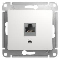 Механизм компьютерной розетки Schneider Electric Glossa GSL000181K RJ45 одноместный белый