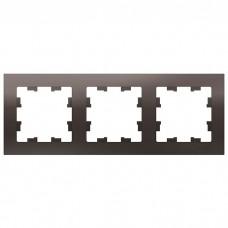 Рамка трехместная Schneider Electric AtlasDesign ATN000603 мокко