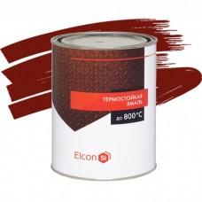 Эмаль Elcon термостойкая красно-коричневая 1 л