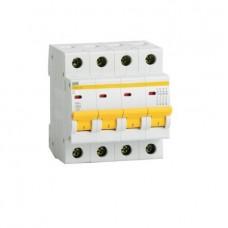 Автоматический выключатель IEK ВА47-29 4Р 6А С