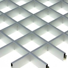 Потолок грильято Cesal CL Эконом металлик 75х75х37 мм
