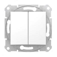 Механизм переключателя Schneider Electric Sedna SDN0600121 двухклавишный белый