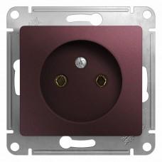 Механизм розетки Schneider Electric Glossa GSL001141 одноместный без заземления баклажановый