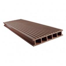 Доска террасная Eurodeck Даббл Шоколад 3000х139х27 мм
