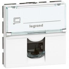 Розетка компьютерная Legrand Mosaic 076564 RJ45 одноместная белая