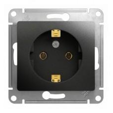 Механизм розетки Schneider Electric Glossa GSL000743 одноместный с заземлением антрацит